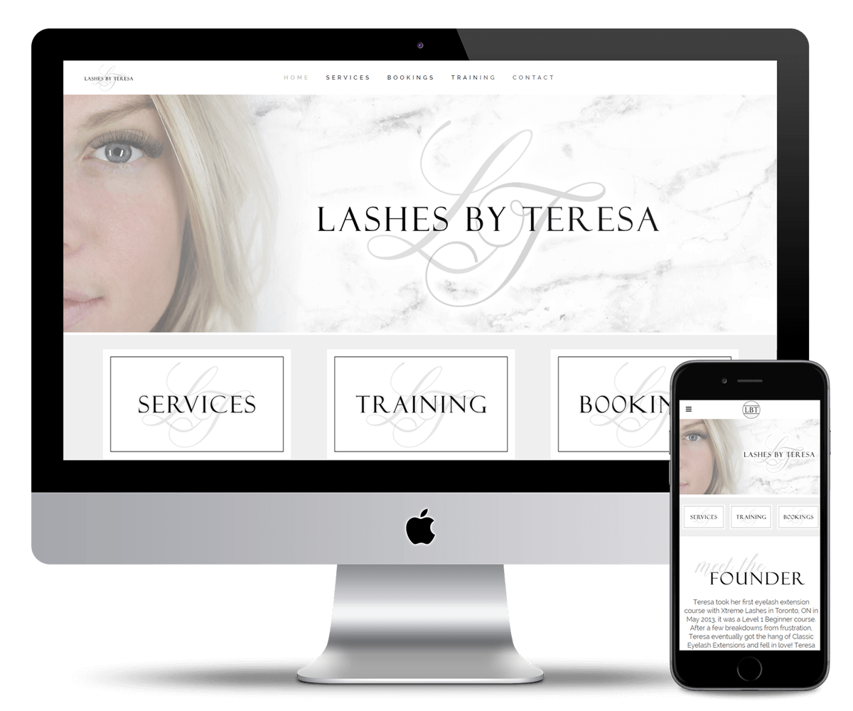 LASHES BY TERESA website